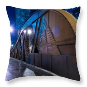 Chicago Steel Bridge Throw Pillow