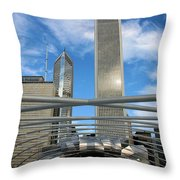 Chicago Steel Throw Pillow