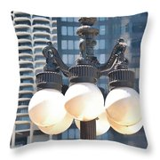 Chicago Street Lamps Throw Pillow