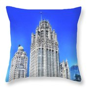 Chicago The Gothic Tribune Tower Throw Pillow