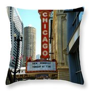 Chicago Theater - 1 Throw Pillow