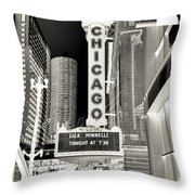 Chicago Theater - 2 Throw Pillow
