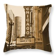Chicago Theater - 3 Throw Pillow