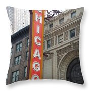 Chicago Theater Sign Throw Pillow