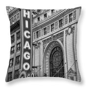 Chicago Theatre Bw Throw Pillow