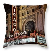 Chicago Theatre Throw Pillow
