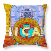 Chicago Theatre Throw Pillow
