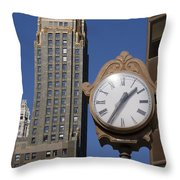 Chicago Time Throw Pillow