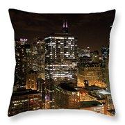 Chicago Times Throw Pillow