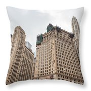Chicago Towers Throw Pillow