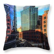 Chicago Train Throw Pillow