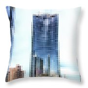 Chicago Under Construction On The River 02 Pa Throw Pillow