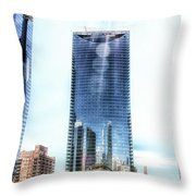 Chicago Under Construction On The River 02 Throw Pillow