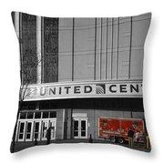Chicago United Center Signage Sc Throw Pillow