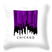 Chicago Violet Vertical  Throw Pillow
