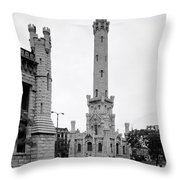 Chicago Water Tower 1933 Throw Pillow