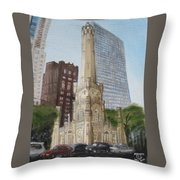 Chicago Water Tower 1b Throw Pillow