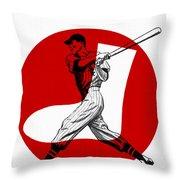 Chicago White Sox 1960 Scorebook Throw Pillow