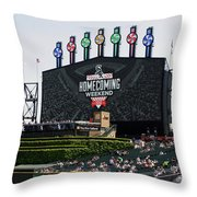 Chicago White Sox Home Coming Weekend Scoreboard Throw Pillow