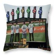Chicago White Sox Scoreboard Thank You 12 22 44 3 Throw Pillow
