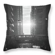 Chicagohenge Bw Throw Pillow