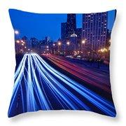 Chicagos Lake Shore Drive Throw Pillow