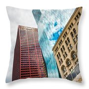 Chicago's South Wabash Avenue  Throw Pillow
