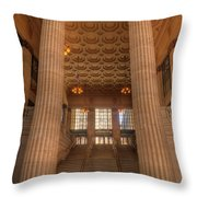 Chicagos Union Station Entry Throw Pillow