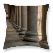 Chicagos Union Station Exterior Throw Pillow