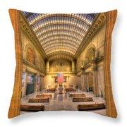Chicagos Union Station Throw Pillow