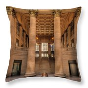 Chicagos Union Station Waiting Hall Throw Pillow