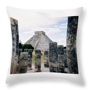 Chichen Itza 3 Throw Pillow