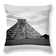 Chichen Itza B-w Throw Pillow