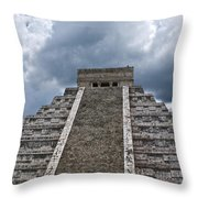 Chichen-itza Pyrmid In Mexico Throw Pillow