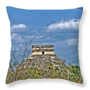 Chichen Itza Sunny Side Throw Pillow