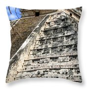 Chichen Itza Up Close Throw Pillow