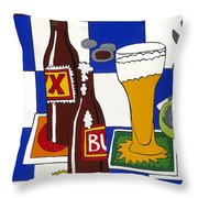 Chichis Y Cervesas Throw Pillow by Rojax Art