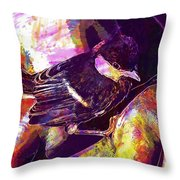 Chick Bird Breeding Down Protect  Throw Pillow