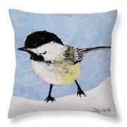 Chickadee Throw Pillow