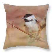 Chickadee In Spring Throw Pillow