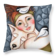 Chickadee Love Throw Pillow