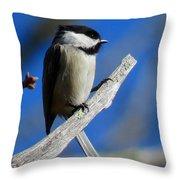 Chickadee Moments Throw Pillow