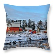 Chickasaw Winter Throw Pillow
