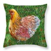 Birschen Chicken  Throw Pillow