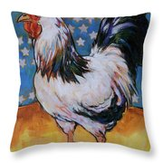 Chicken And Stars Throw Pillow
