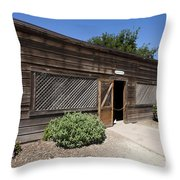 Chicken Coop At Ardenwood Historic Farm Throw Pillow