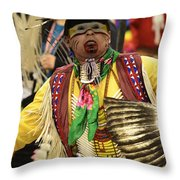 Pow Wow Chicken Dancer Throw Pillow