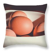 Chicken Eggs Throw Pillow