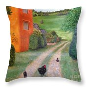 Chicken Farm Throw Pillow
