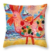 Chicken Of The Sea #2 Throw Pillow
